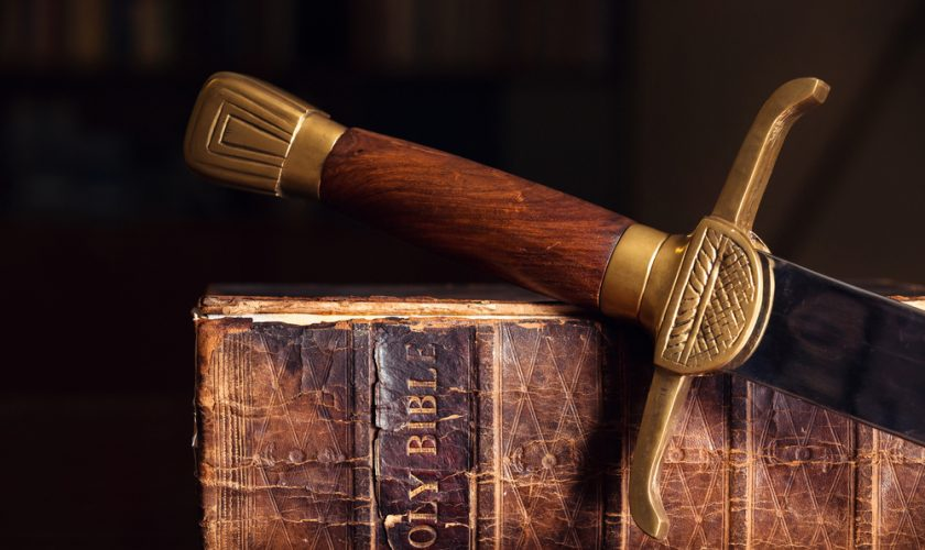 Sword on a Bible